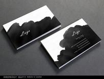 中国风水墨名片PSD模板
