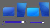 6款蓝色MG字幕框带A通道