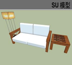简约双人沙发SU模型