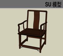 木质简约靠背椅子模型