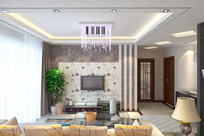 现代风格电视墙装修设计图