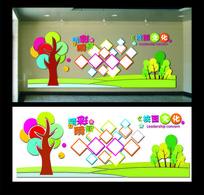 校园照片展示文化墙