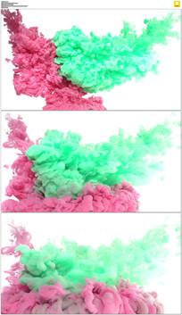 4K红绿色水墨动态视频素材