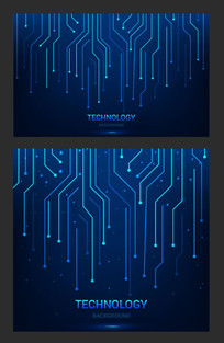 蓝色科技网页背景素材