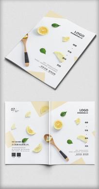 时尚简约健康饮食画册封面