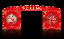 中式欧式婚礼背景板
