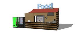 便利食物售卖亭模型