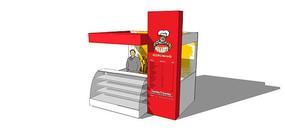 户外食物售卖亭模型