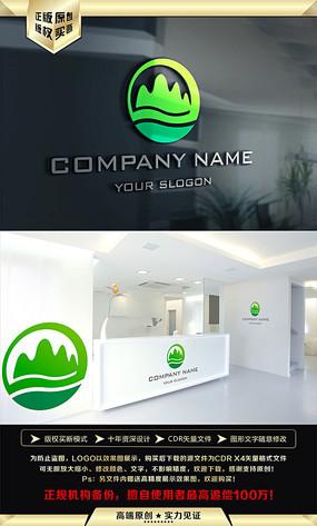 绿色山水LOGO设计 CDR
