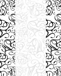 黑白花纹底纹移门装饰画