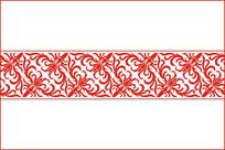 对称卷草移门图案