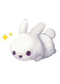 中秋节玉兔卡通形象手绘图片