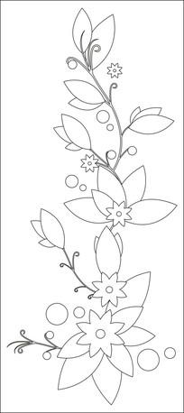 八角星花朵藤蔓雕刻图案