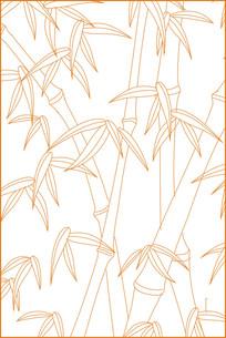 简洁竹子雕刻图案