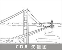 旧金山线描装饰图