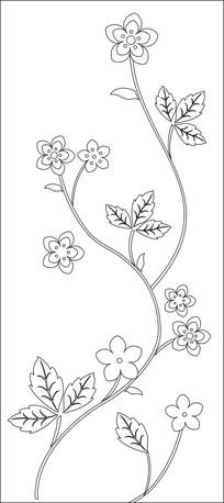 妖娆姿态花朵雕刻图案