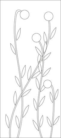 优美姿态的草花雕刻图案