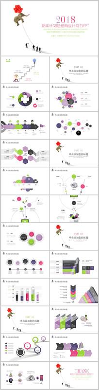 创意商务新年计划PPT模板