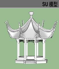 八角亭SU模型