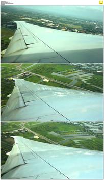 飞机机翼实拍视频素材