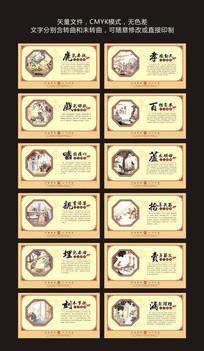 古典二十四孝文化墙展板