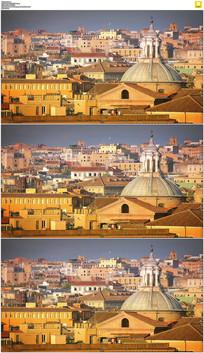 罗马城市建筑实拍视频素材