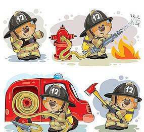消防员卡通