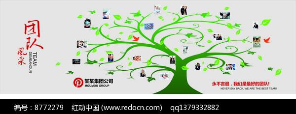 公司团队风采企业文化墙设计图片
