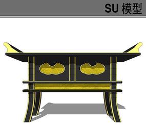 日式仿古桌子模型