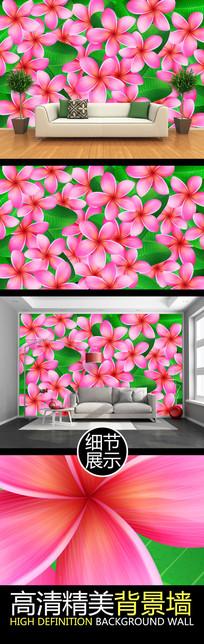 绚丽花叶艺术电视背景墙