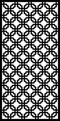 反圆角矩形花纹镂空雕图案