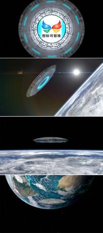 科幻电影飞碟标志展示片头模板