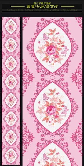 西式粉色浪漫婚礼t台地毯