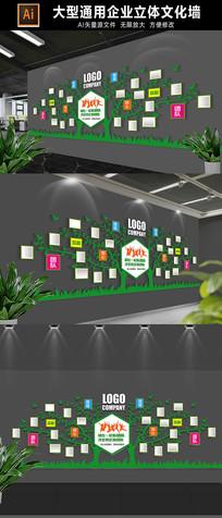 创意通用企业照片树展板