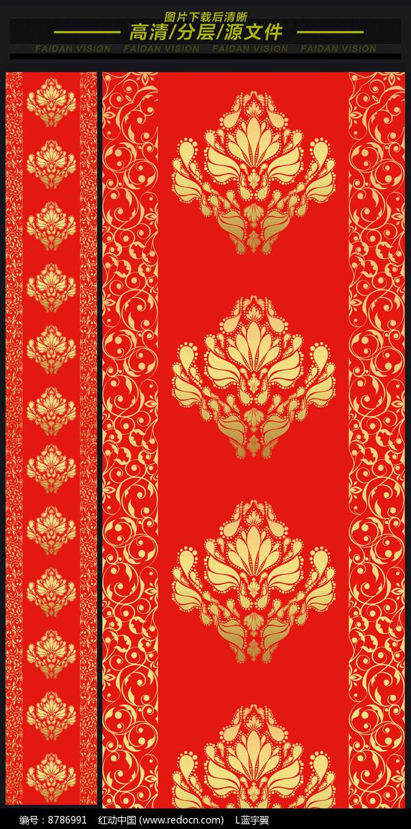 汉唐大红金色欧式高端婚礼T台图片