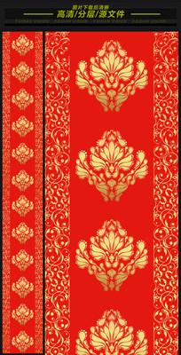 汉唐大红金色欧式高端婚礼T台