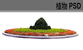 圆形花坛设计