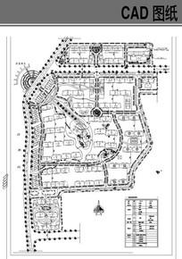 某花园住宅总平面布置图