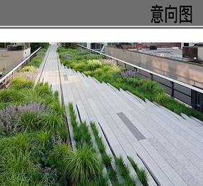 屋顶线性简洁风格铺装