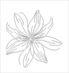 一朵花雕刻图案