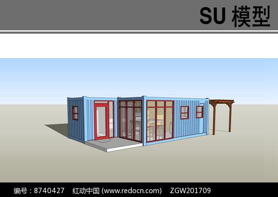 带木构架集装箱工作室图片
