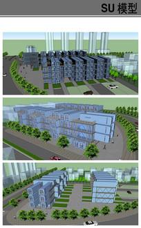 大型集装箱单身公寓模型