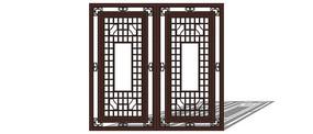 古代窗户模型