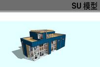 精细集装箱住宅方案模型