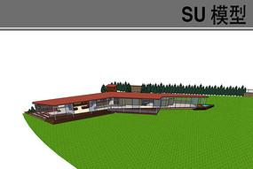 集装箱风格住宅走廊模型