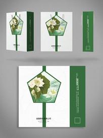 绿色中国风素雅手提袋