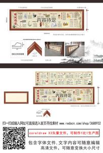 儒家文化走廊校园文化墙画框
