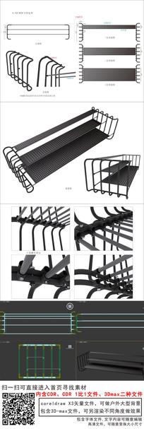 铁管铁架展览展示层架可拆卸