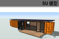 现在风格集装箱房子模型