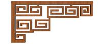 中式门窗边角纹样模型